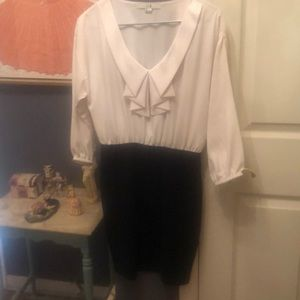 XXI black and white dress